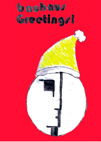 bauhaus 100 christmas card architecture